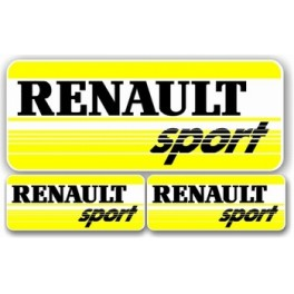 3 Stickers Renault Sport