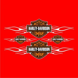 Planche Stickers Harley