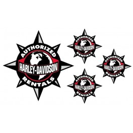 4 Stickers Harley