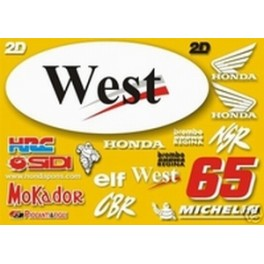 Kit deco HONDA West Racing