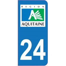 Sticker immatriculation 24 - Dordogne