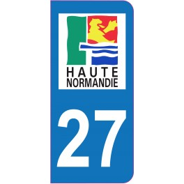 Sticker immatriculation 27 - Eure