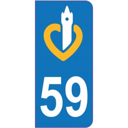 Sticker immatriculation 59 - Nord
