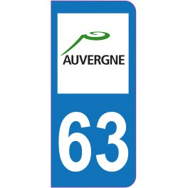Sticker immatriculation 63 - Puy-de-Dôme