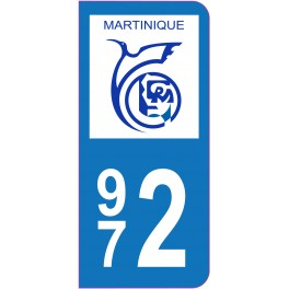 Sticker immatriculation 972 - Martinique